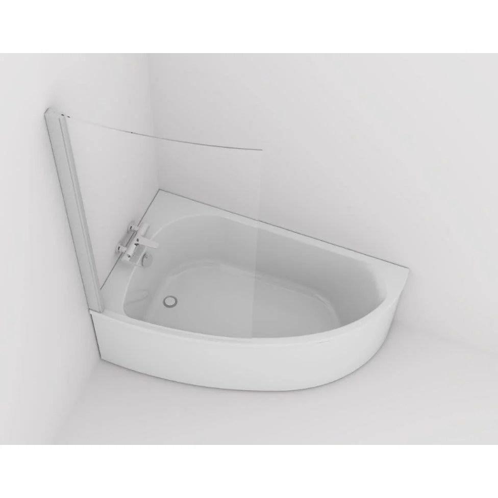 baignoire asymetrique gauche l 150x l 90 cm blanc jacob delafon duomega 2
