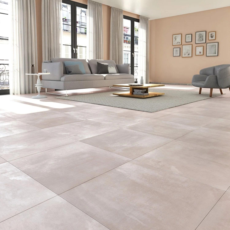 Carrelage sol et mur gris clair effet bton Matinon l60 x L60 cm  Leroy Merlin