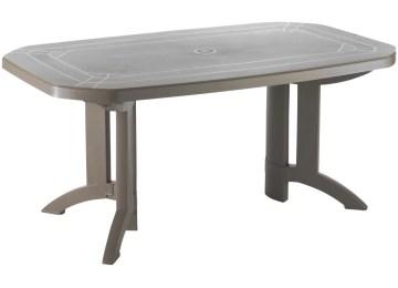 Table De Jardin Grosfillex Vega Blanche | Table De Jardin Plastique ...