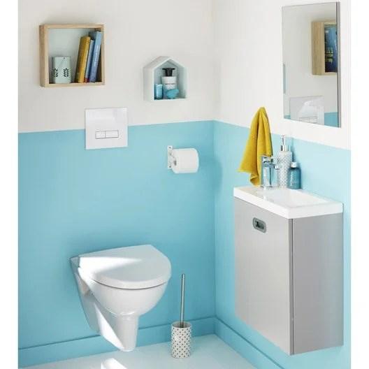 WC suspendu  WC abattant et lavemains  Toilette  Leroy Merlin