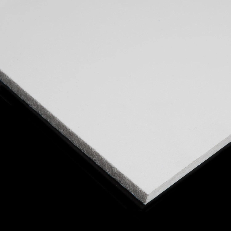 Plaque Coupe Pvc Rigide 495 X 495 X 10 Mm Blanc Materiaux Bruts Construction