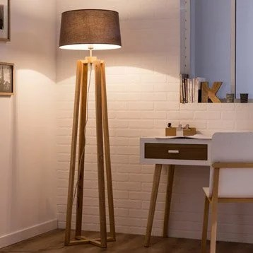 Lampe  Lampe sur pied  poser  Leroy Merlin