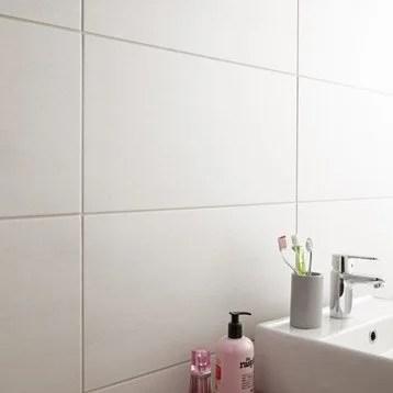 carrelage sol et mur blanc eiffel l x l cm