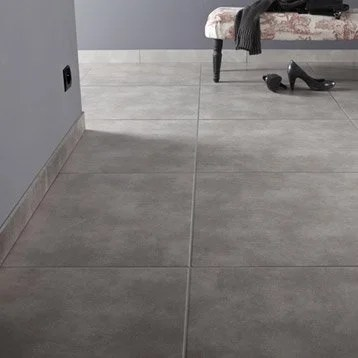 Carrelage Sol Et Mur Gris Fum Effet Bton Soho L615 X L