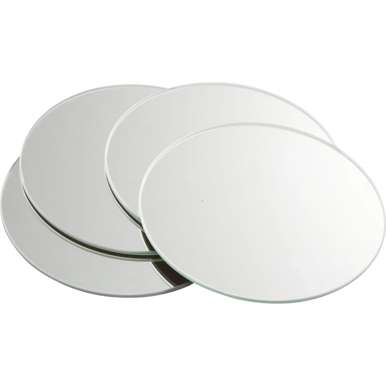 Lot De 4 Miroirs Non Lumineux Adhsifs Ronds L15 X L15