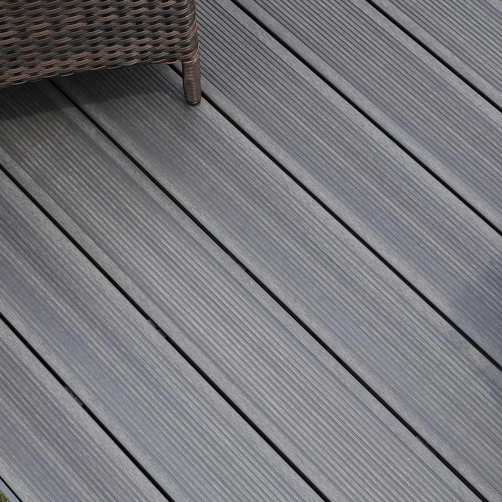 planche composite luxia so garden gris argent l 240 x l 14 5 cm x ep 22 mm