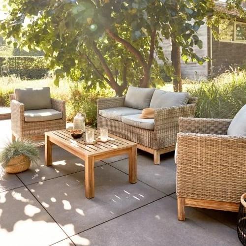 salon bas de jardin canape et fauteuil bas