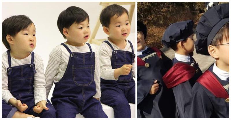 亞洲最萌三胞胎「大韓民國萬歲」畢業了!7歲民國「變長腿小帥哥上臺致詞」網融化:真的長大了 - LOOK543