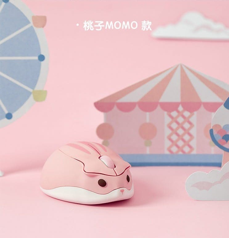 真的是「滑鼠」!Q萌「小倉鼠造型」辦公兼療癒:點擊就摸鼠寶耳朵~ - LOOKER 好點子