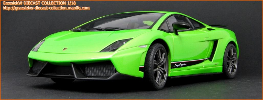 Lamborghini Gallardo LP5704 Superleggera  green Autoart No 74659  Diecast Collection Cars