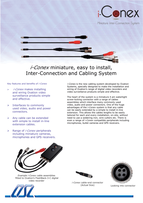 small resolution of i conex miniature easy to install inter manualzz com flashback2c connection pod for easy installation and wiring to the