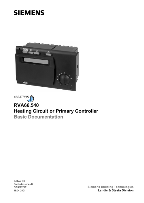 small resolution of rva66 540 heating circuit or primary controller basic documentation