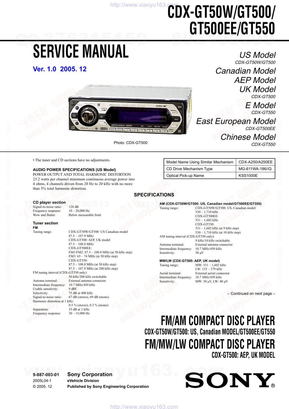 medium resolution of cdx gt50w gt500