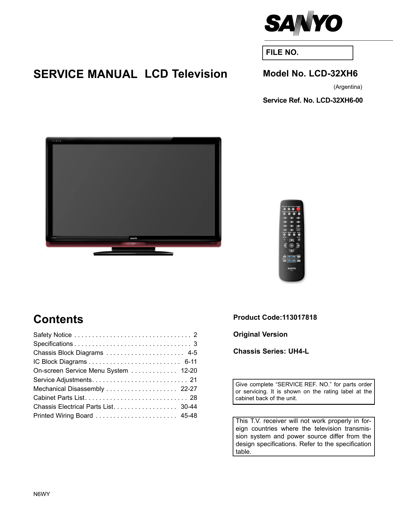hight resolution of service manual lcd television contents