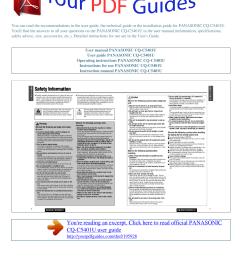 operating instructions panasonic cq c5401u [ 1241 x 1754 Pixel ]