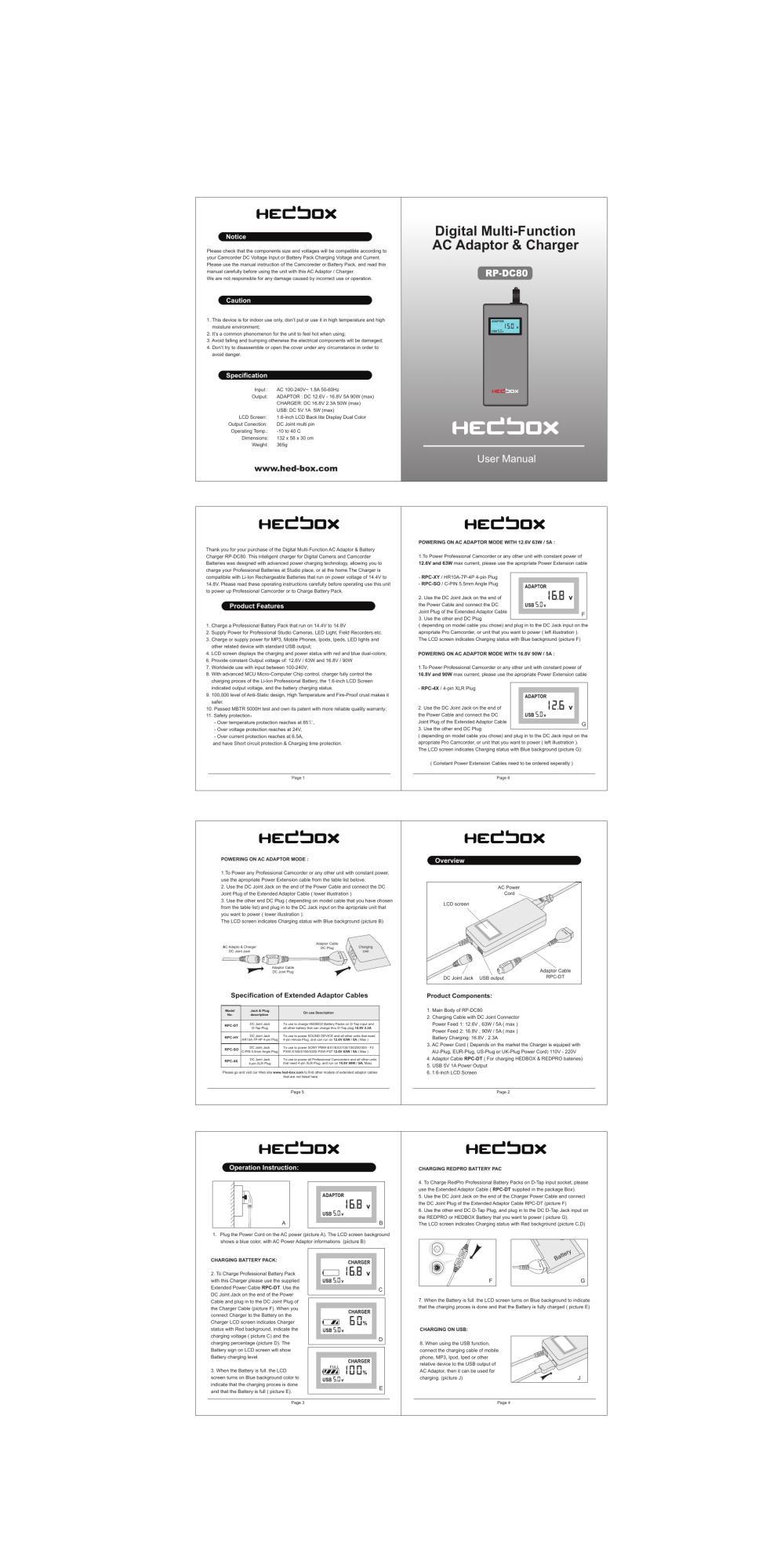 medium resolution of hedbox rp dc80 user manual