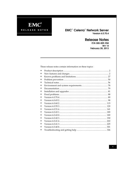 small resolution of emc celerra network server release notes
