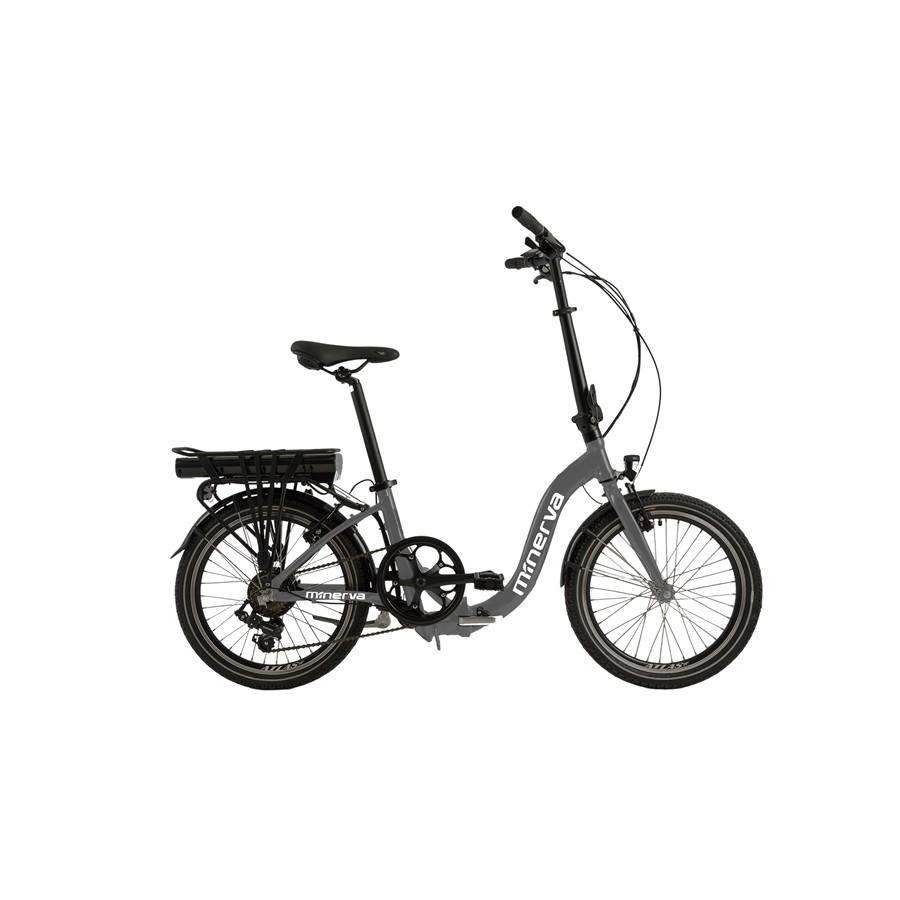 Vélo électrique pliant E-Folding+ grisMINERVA : Auto5.be