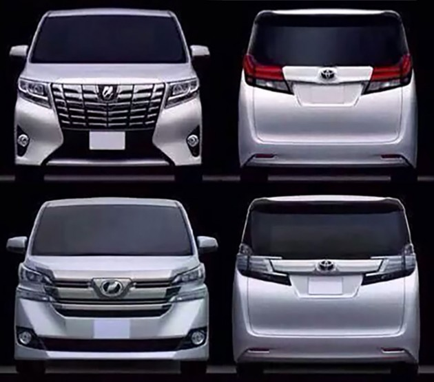 all new alphard vs vellfire jual grand avanza toyota leaked debut in january 2015