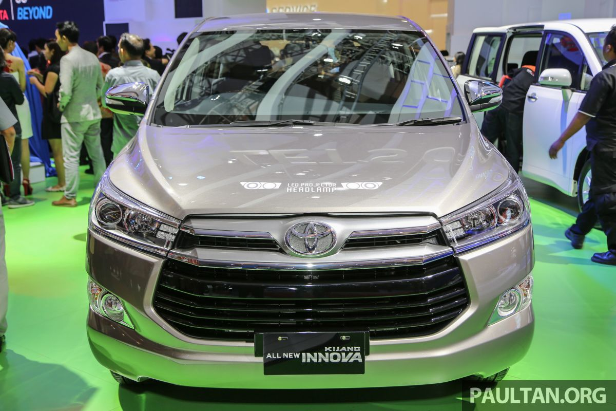 all new kijang innova type q all-new toyota camry (acv 70) iims 2016 6 seat detailed