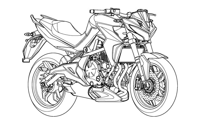 Kymco patents 650 cc middle-weight motorcycle design based