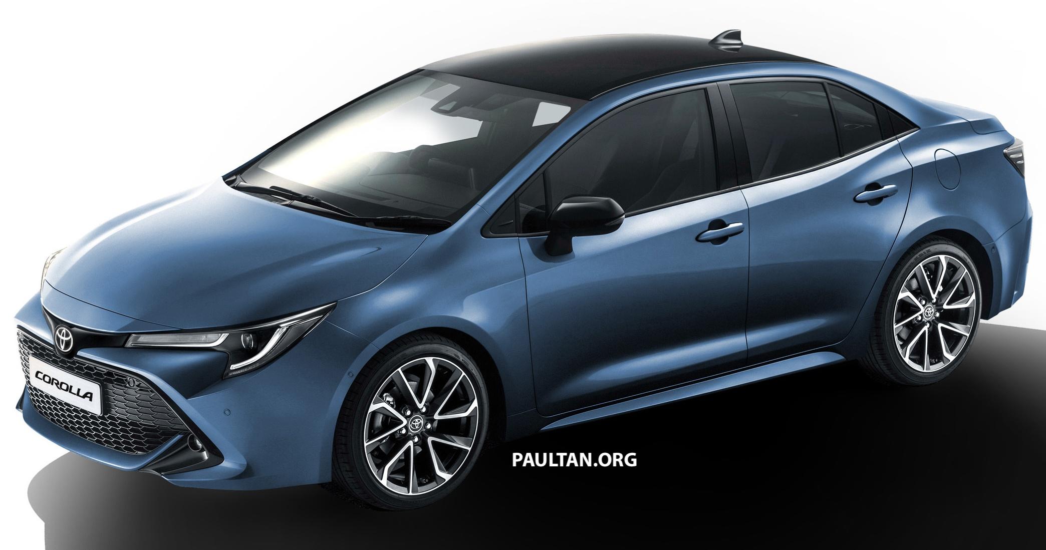 all new corolla altis 2019 grand avanza veloz toyota sedan rendered based on auris hatch