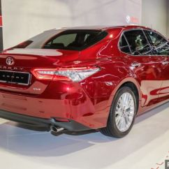 All New Toyota Camry 2018 Thailand Klims18 Launched 2 5v Rm190k Car It Replaces The 825 Mm Wheelbase Is 50 Longer Which Means Overhangs Are Now Shorter Styling Aside Proportions Brought About By