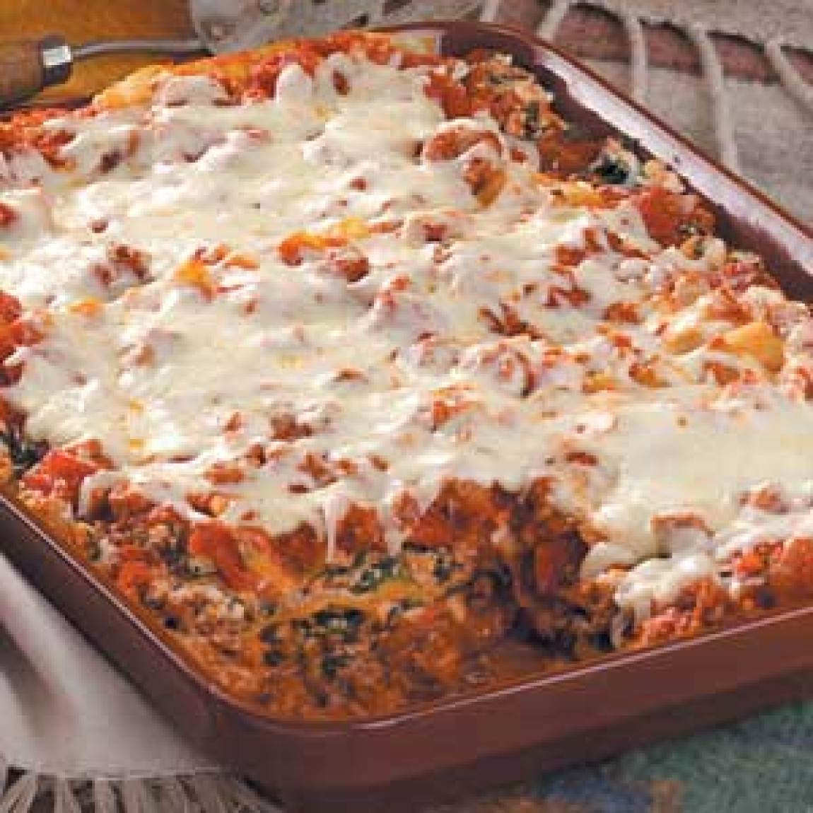beef and spinach lasagna recipe just a pinch recipes