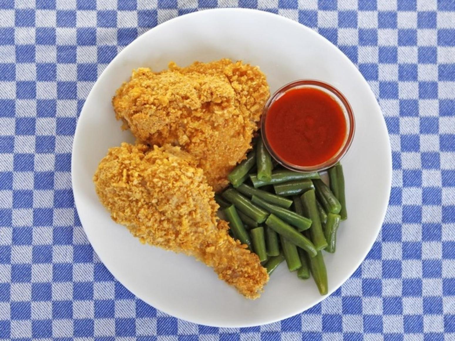oven fried crispy cornflake chicken recipe just a pinch recipes