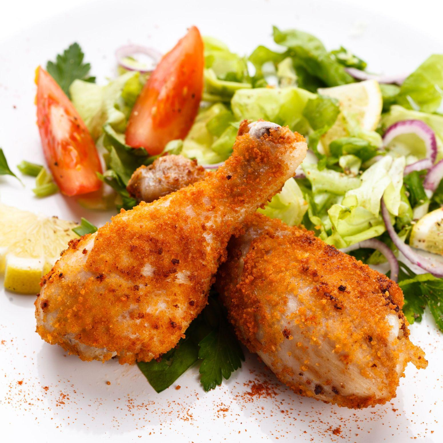 breaded and baked chicken drumsticks recipe