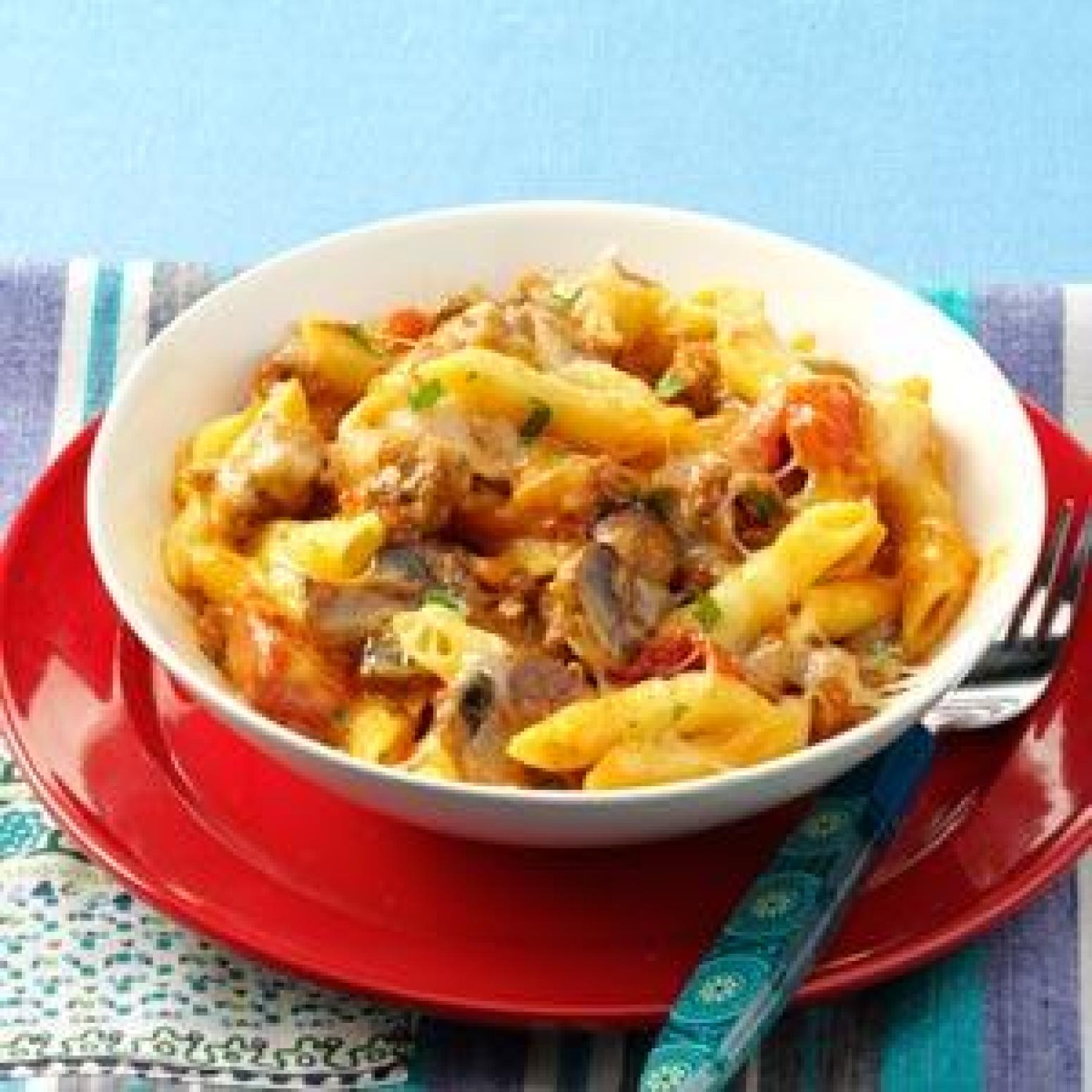 penne amp sausage casseroles recipe just a pinch recipes
