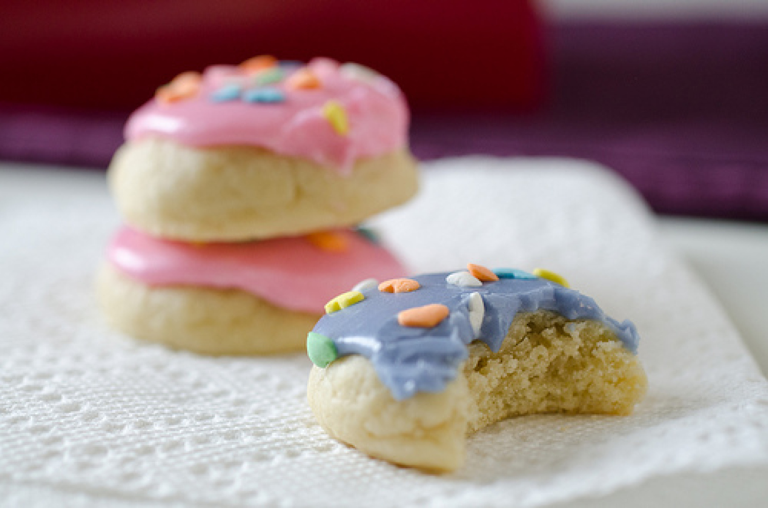 mini soft frosted sugar cookies recipe just a pinch recipes