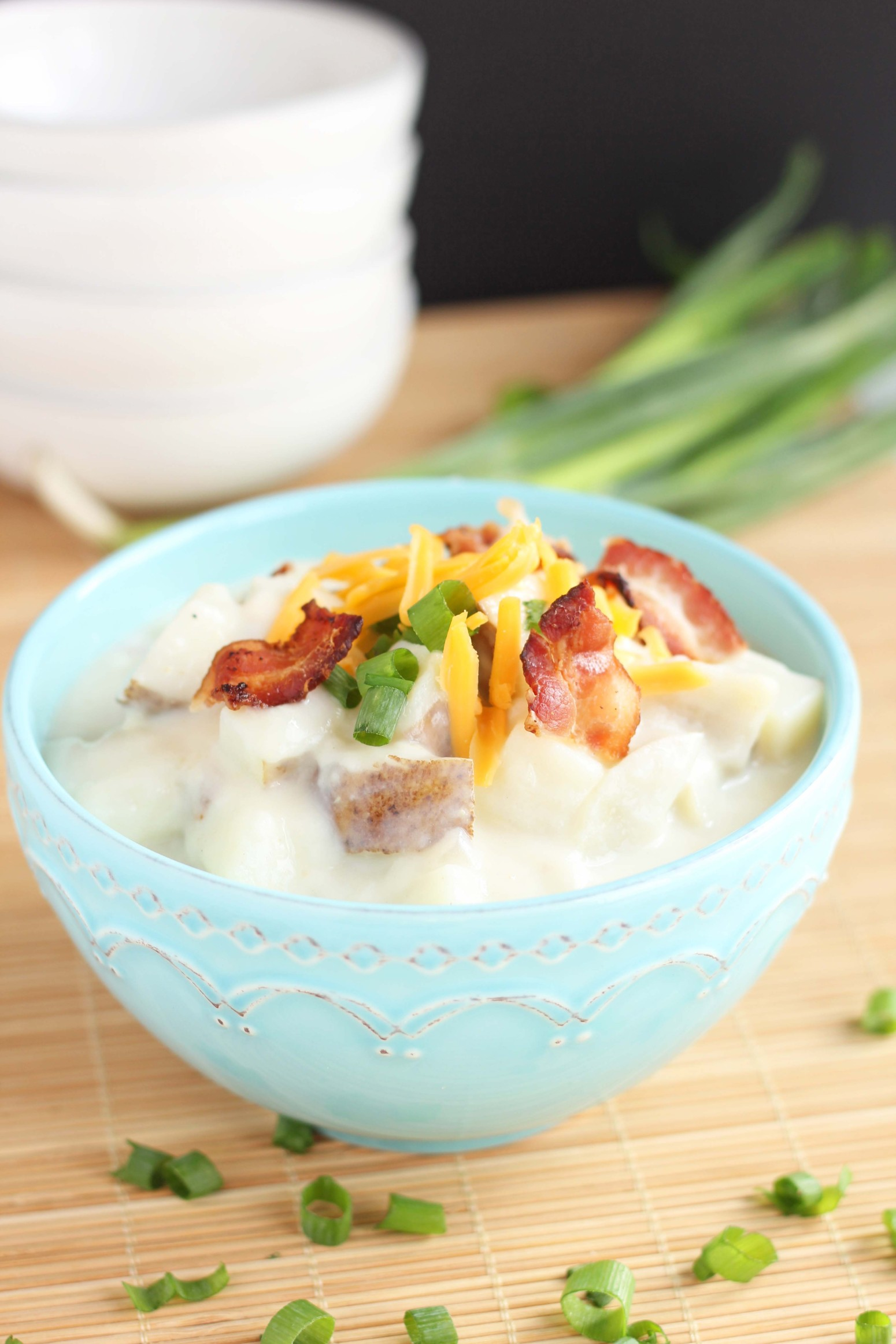 creamy baked potato soup with bacon recipe just a pinch recipes