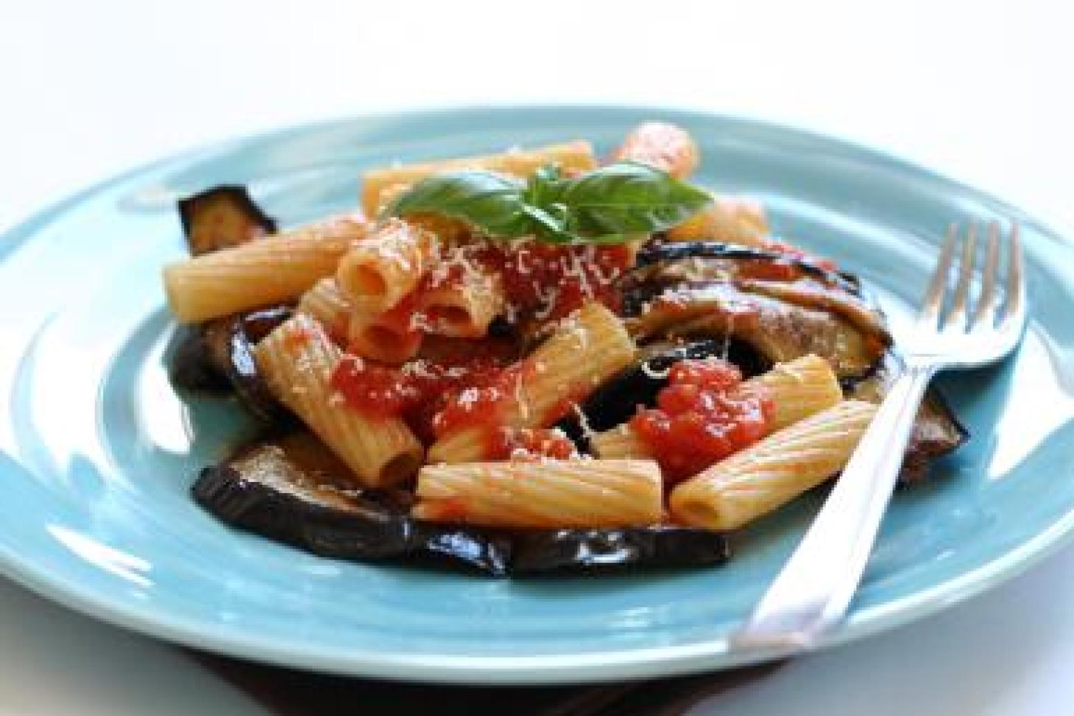 Cucina Siciliana A Sicilian Pasta Dish With Fried Eggplant And Ricotta