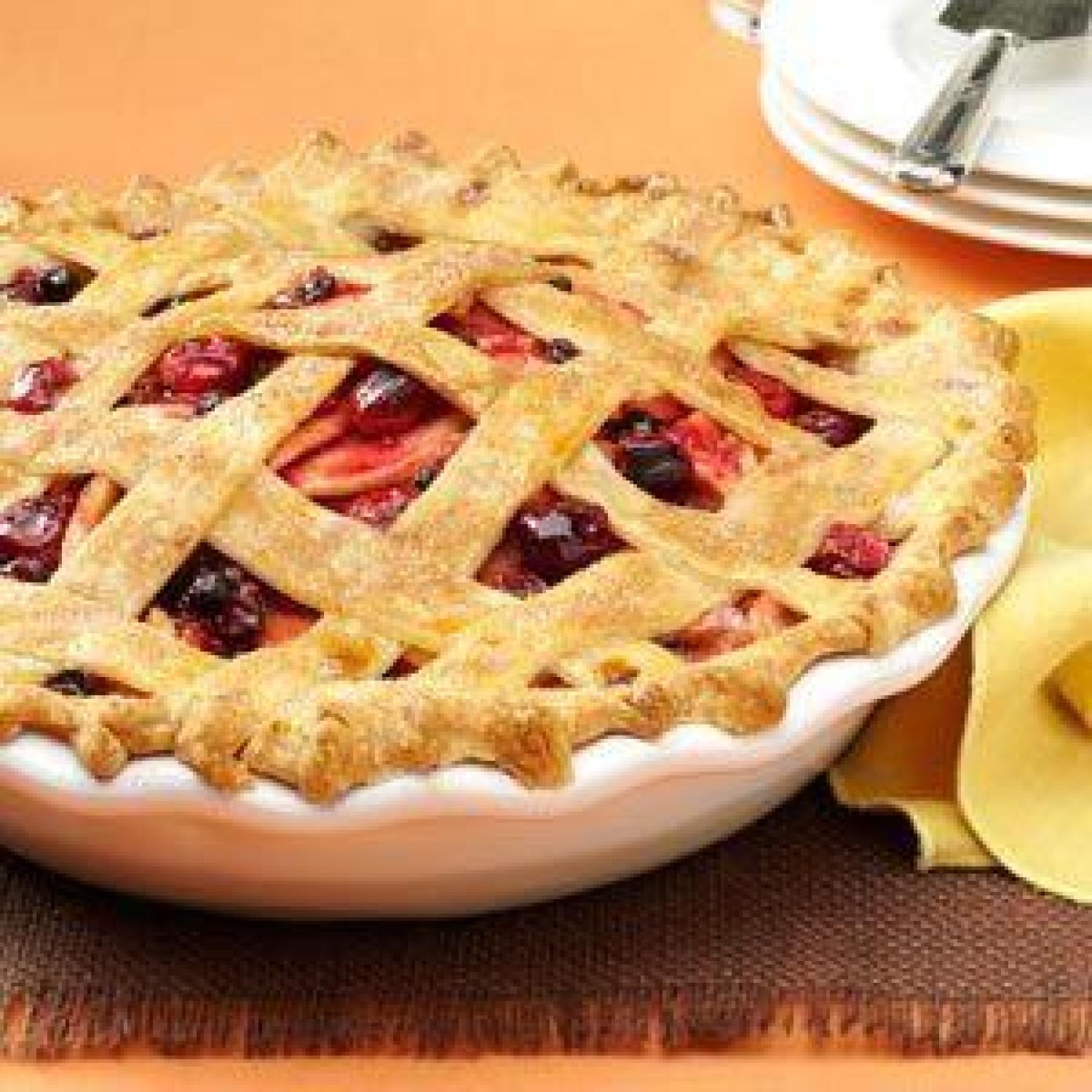 cranberry apple lattice pie recipe just a pinch recipes