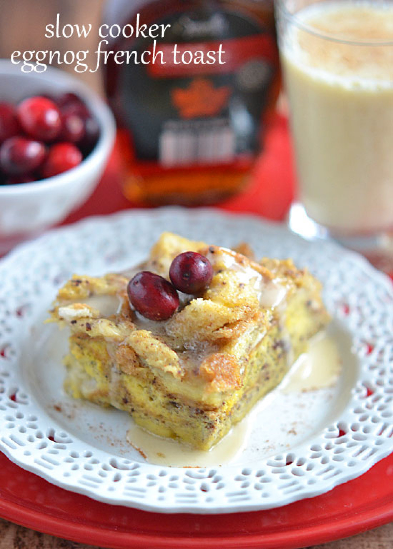 slow cooker eggnog french toast recipe 2 just a pinch recipes