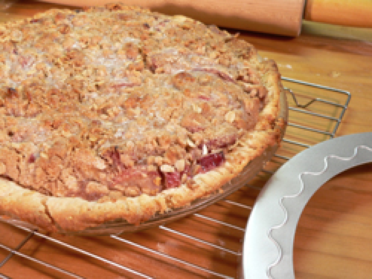 rhubarb pie with crumble topping recipe just a pinch recipes