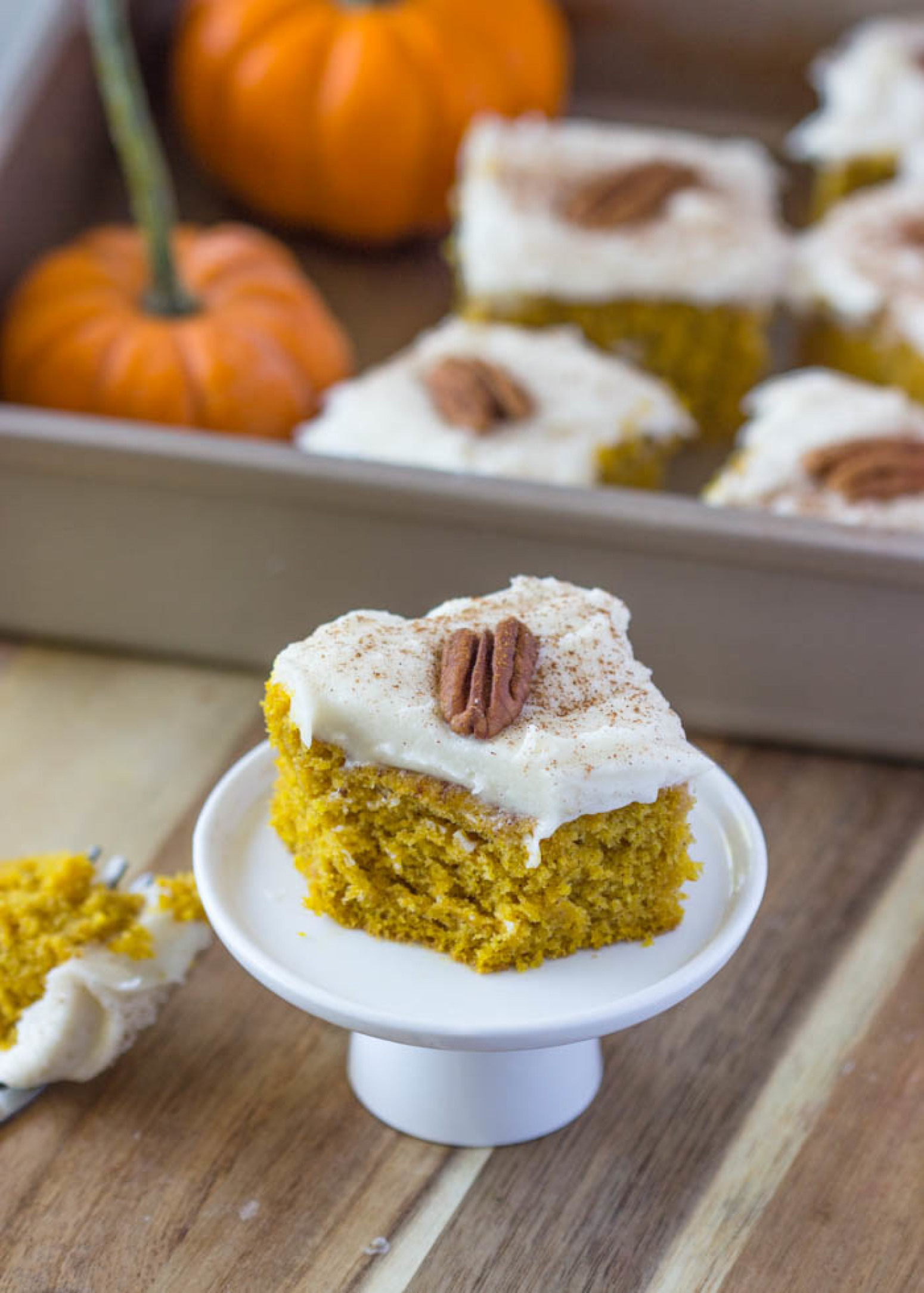 pumpkin cake with cream cheese frosting recipe just a pinch recipes