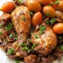 Baked Chicken Drumsticks With Onions And Mushroom Recipe