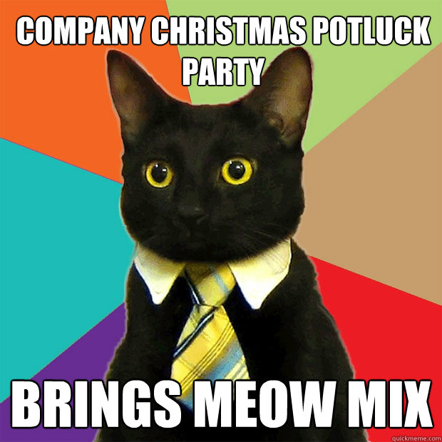 Cat Image, Brings Meow Mix to Potluck