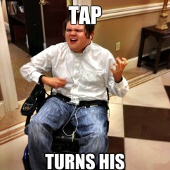 Wheelchair Hot Wheels Chaise Lounge Beach Chair Listens To Spinal Tap Turns His Up 11 - Rock Guy Quickmeme