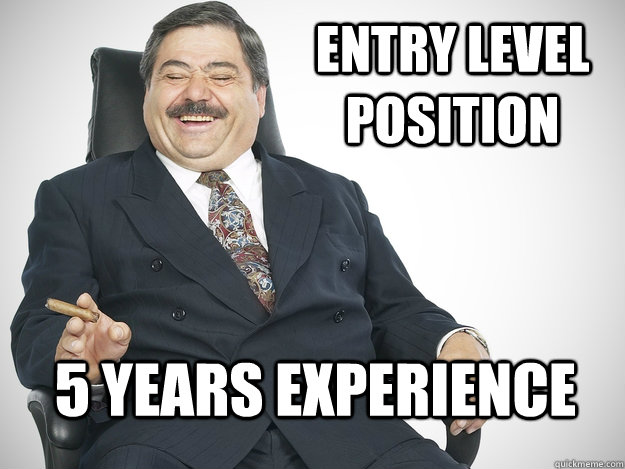 Image result for 5 years experience for entry level
