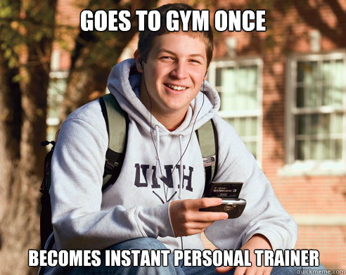 Image result for lame personal trainer meme
