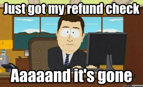 Image result for college refund checks funny