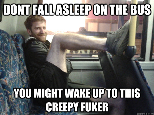 Image result for creepy guy on bus