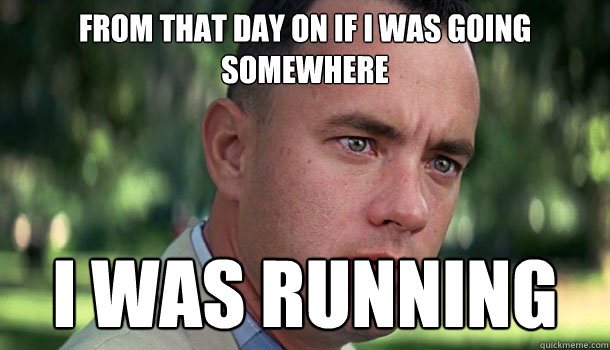 Image result for forrest gump i was running