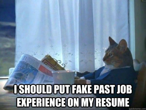 fake resume meme