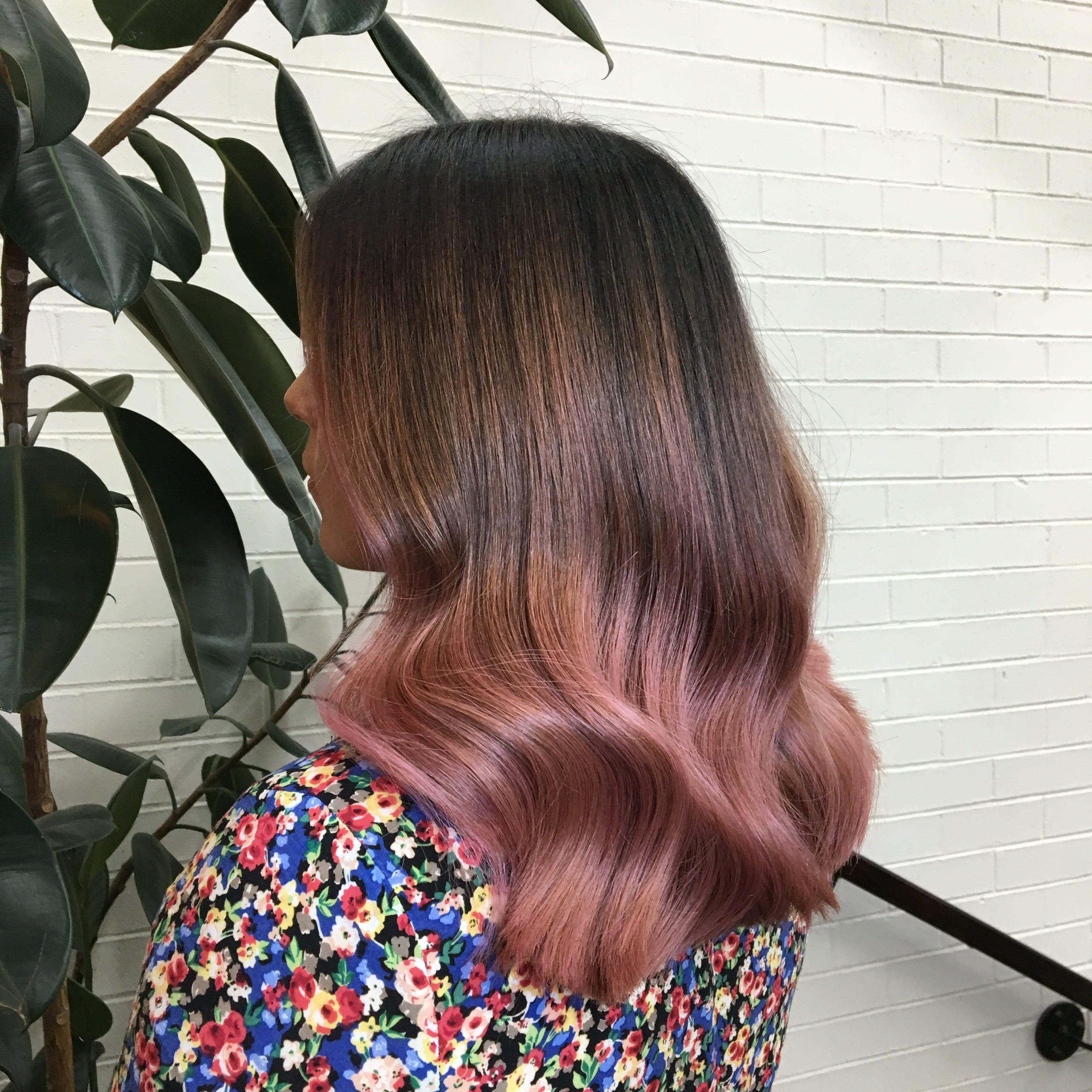 rose hair color pink