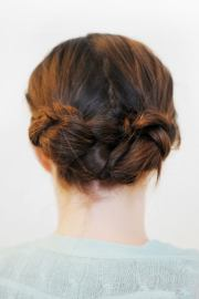 braided updos - easy braid updo