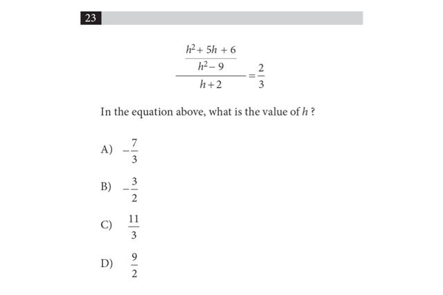 SAT Sample Questions 2016
